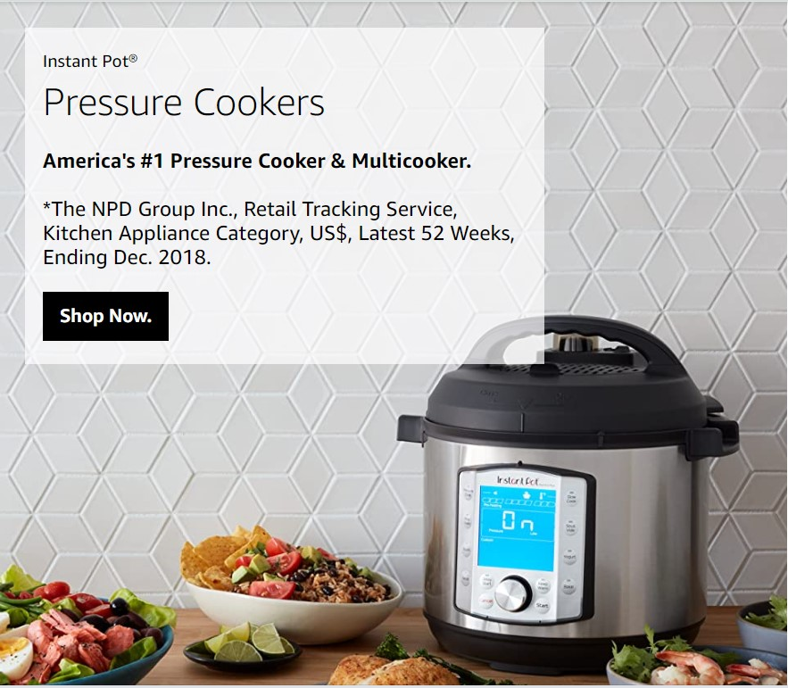 Instant Pot topped the sales in the first Amazon Prime Day