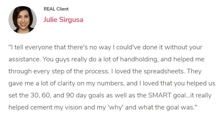 Amazon coaches help Julie hit her SMART goals