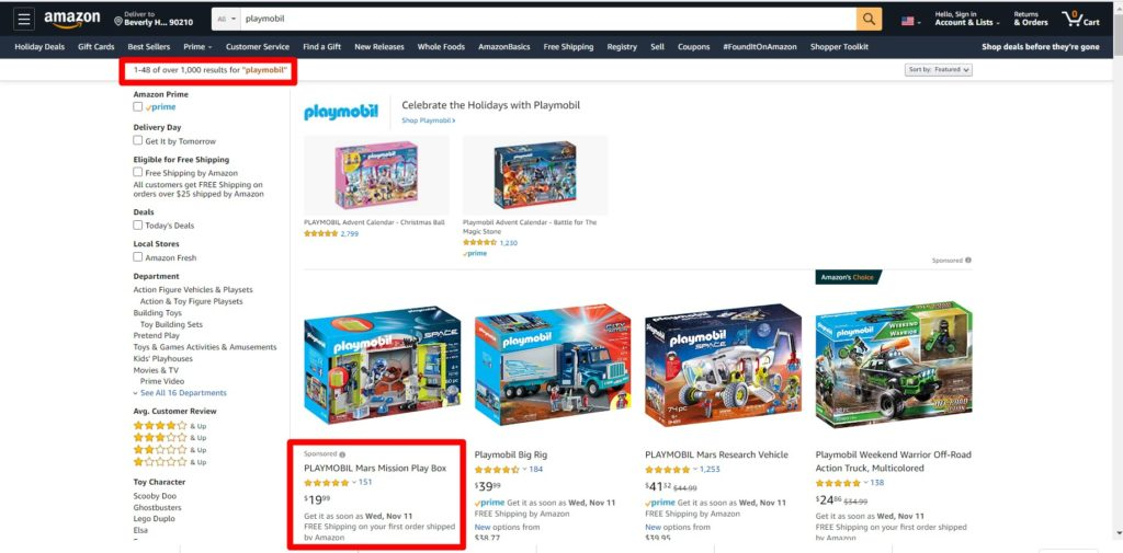 Amazon ads can help you get on top of the search results